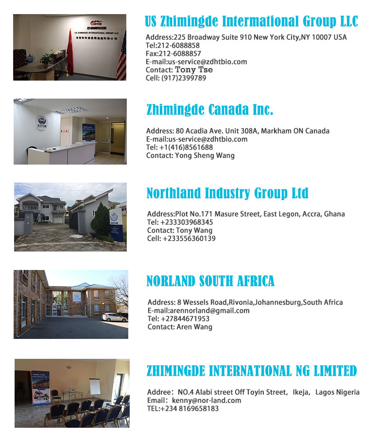 Norland Corporate Offices - Nigeria - South Africa - Ghana - uganda - Zambia - China 1